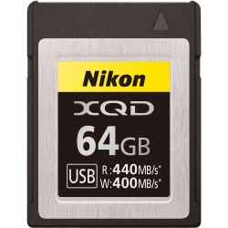 Карта памяти Nikon MC-XQ64G XQD 64Gb (440/400 MB/s)