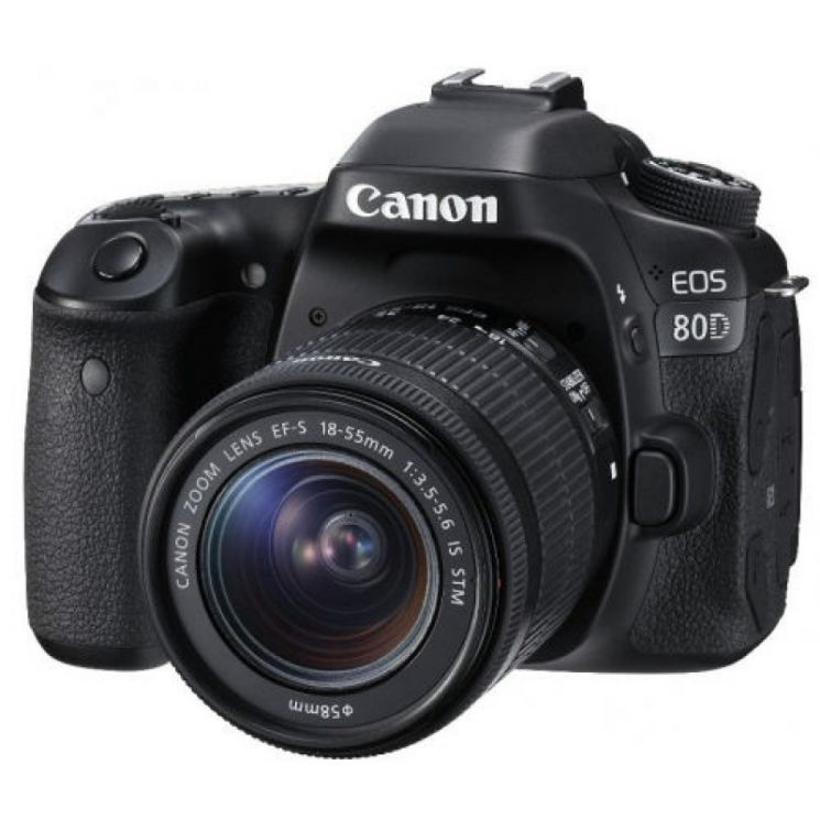 Зеркальный фотоаппарат Canon EOS 80D Kit 18-55mm IS STM